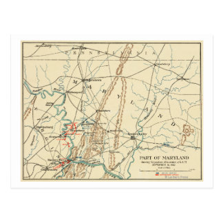 Battle of Antietam - Civil War Panoramic Map 7 Postcard