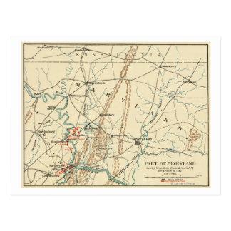 Battle of Antietam - Civil War Panoramic Map 7 Postcard