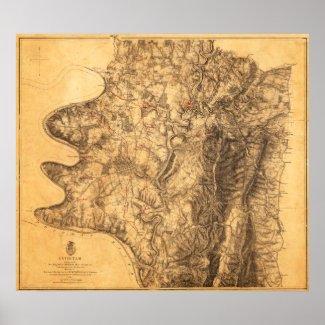 Battle of Antietam - Civil War Panoramic Map 7 Poster