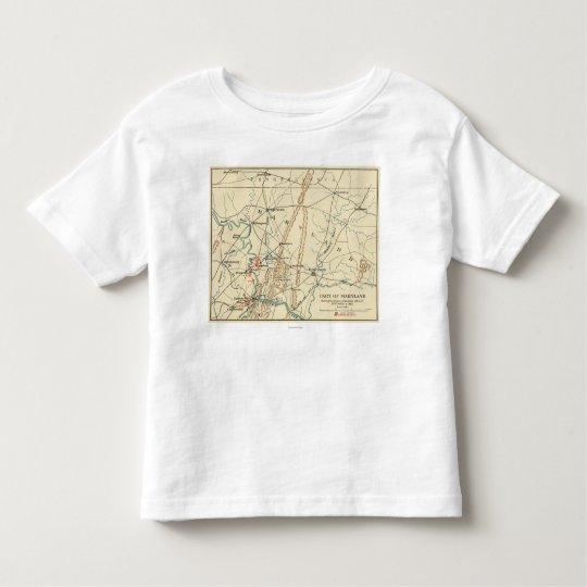 Battle of Antietam - Civil War Panoramic Map 7 Toddler T-shirt