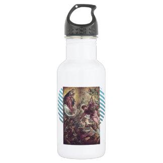 Battle of Archangel Michael, Satan by Tintoretto Water Bottle