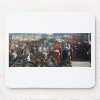 Battle of Asola by Tintoretto Mouse Pad
