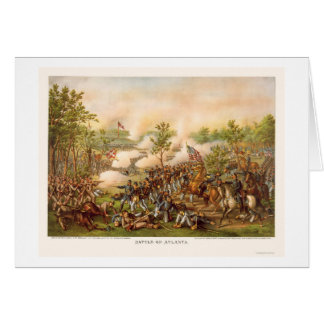 Battle of Atlanta by Kurz and Allison 1864 Card