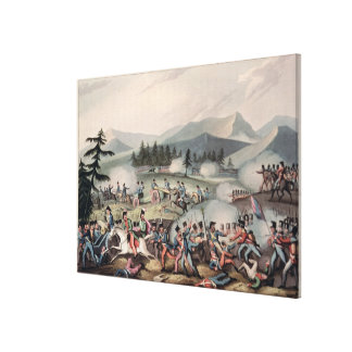 Battle of Barrosa etched by I. Clarke Canvas Print