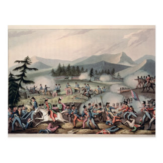 Battle of Barrosa etched by I. Clarke Postcard