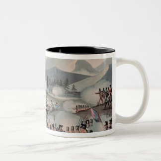 Battle of Barrosa etched by I. Clarke Two-Tone Coffee Mug