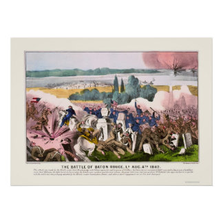 Battle of Baton Rouge by  1862 Poster