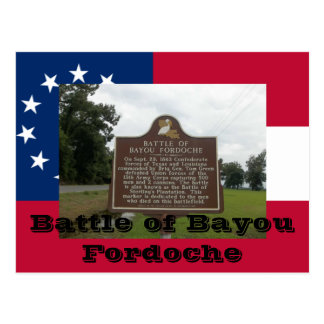 Battle of Bayou Fordoche Postcard