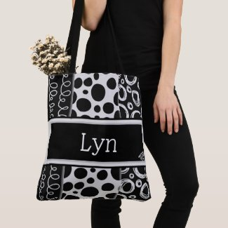 Battle of Black and White Tote Bag