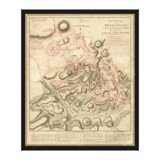 Battle of Brandywine American Revolution Map 1784 Canvas Print
