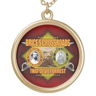 Battle of Brice's Crossroads Round Pendant Necklace