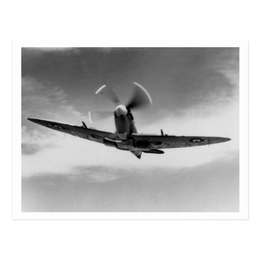 Battle of Britain & The Blitz: #46 Spitfire Postcard