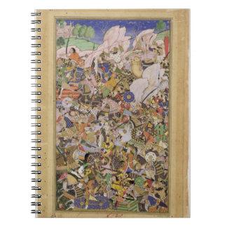 Battle of Bundi, from the Akbarnama, c.1590 (gouac Notebook