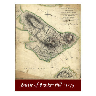 Battle of Bunker Hill -1775 Postcard