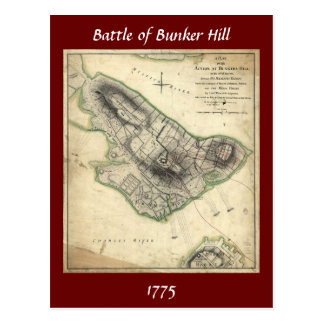 Battle of Bunker Hill - American Revolutionary War Postcard