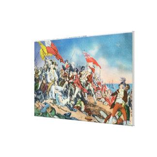 Battle of Bunker Hill Scene - Charlestown, MA Canvas Print