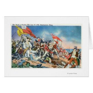 Battle of Bunker Hill Scene - Charlestown, MA Card