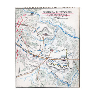 Battle of Chancellorsville Canvas Print