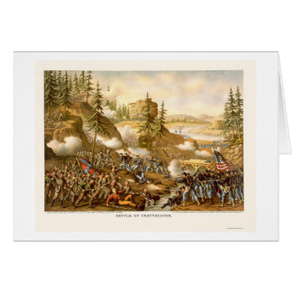 Battle of Chattanooga by Kurz and Allison 1863 Card