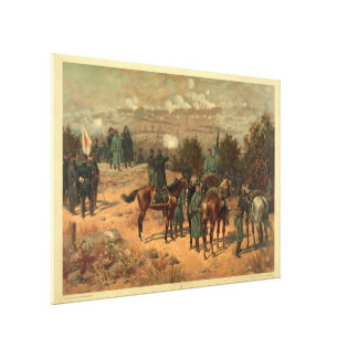 Battle of Chattanooga by Thure de Thulstrup Print Gallery Wrapped Canvas