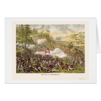 Battle of Chickamauga by Kurz and Allison 1863 Card