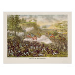 Battle of Chickamauga by Kurz and Allison 1863 Poster