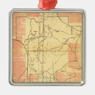 Battle of Chickamauga - Civil War Panoramic Map 2 Metal Ornament