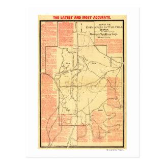 Battle Of Chickamauga Postcards Zazzle - Battle of chickamauga map