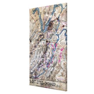 Battle of Chickamauga - Civil War Panoramic Map Canvas Print