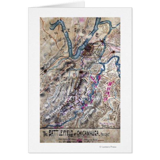 Battle of Chickamauga - Civil War Panoramic Map Card