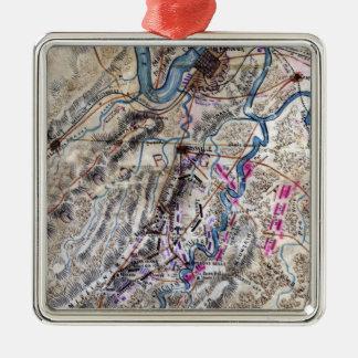 Battle of Chickamauga - Civil War Panoramic Map Metal Ornament