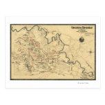 Battle of Chickamauga - Civil War Panoramic Map Postcards