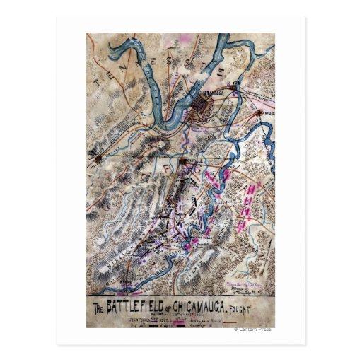 Battle of Chickamauga - Civil War Panoramic Map Post Cards
