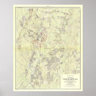 Battle of Chickamauga Print