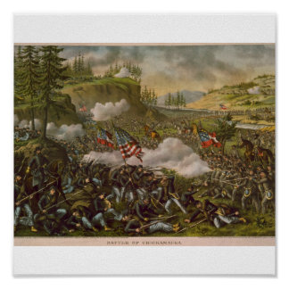 Battle of Chickamauga, published circa 1890 Poster