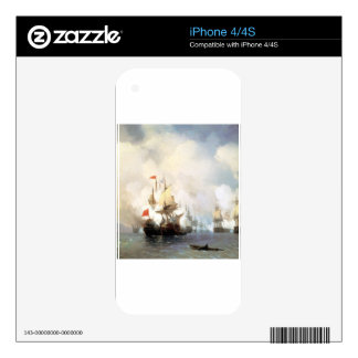 Battle of Chios on 24 June, 1770 Ivan Aivazovsky iPhone 4 Skins