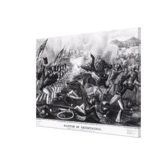 Battle of Churubusco Canvas Print
