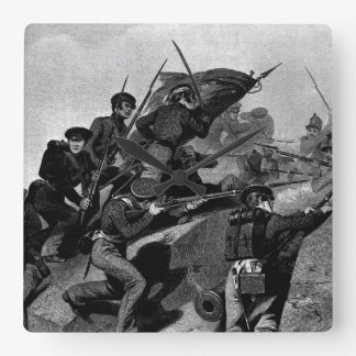 Battle of Churubusco - Capture of the Tete de Pont Square Wall Clock