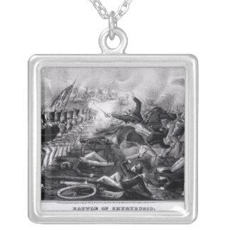 Battle of Churubusco Silver Plated Necklace