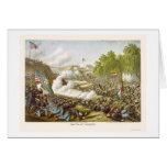 Battle of Corinth by Kurz and Allison 1862 Card