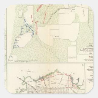 Battle of Corinth Iuka Bayou Fourche Square Sticker