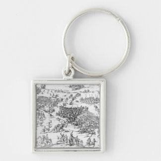 Battle of Courtrais Between French and Flemish Keychain