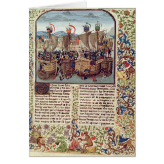 Battle of Ecluse, from 'Froissart's Chronicle' Card