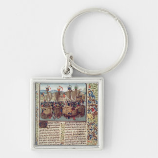 Battle of Ecluse, from 'Froissart's Chronicle' Keychain