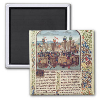 Battle of Ecluse, from 'Froissart's Chronicle' Magnet