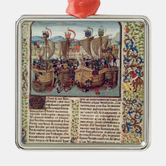 Battle of Ecluse, from 'Froissart's Chronicle' Metal Ornament