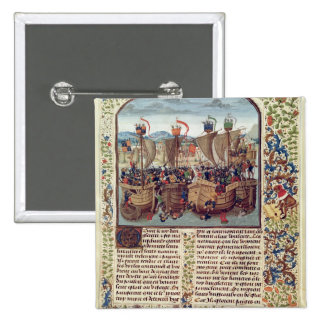 Battle of Ecluse, from 'Froissart's Chronicle' Pinback Button