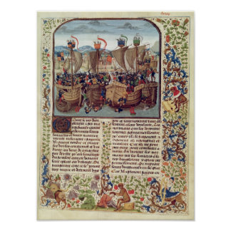 Battle of Ecluse, from 'Froissart's Chronicle' Poster