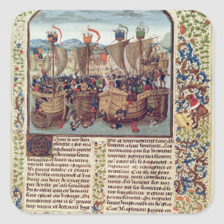 Battle of Ecluse, from 'Froissart's Chronicle' Square Sticker