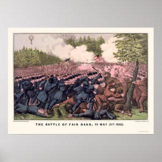 Battle of Fair Oaks by  1862 Poster
